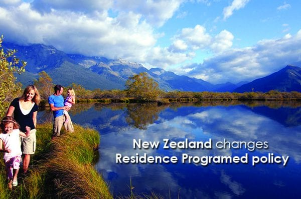 New Zealand changes Residence Programed policy