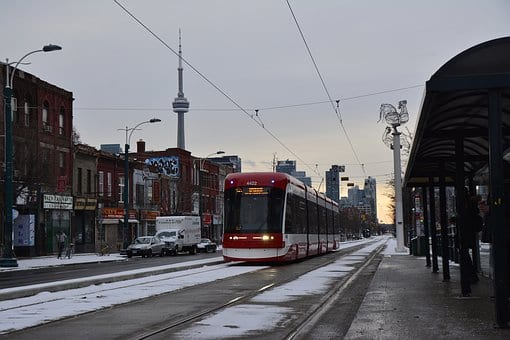 Canada, Toronto, Tram, Street, Urban