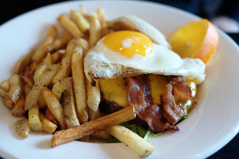 Burger at Holy Grill Restaurant