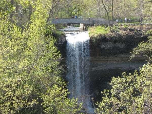 The Minnehaha Waterfalls, Minneapolis.