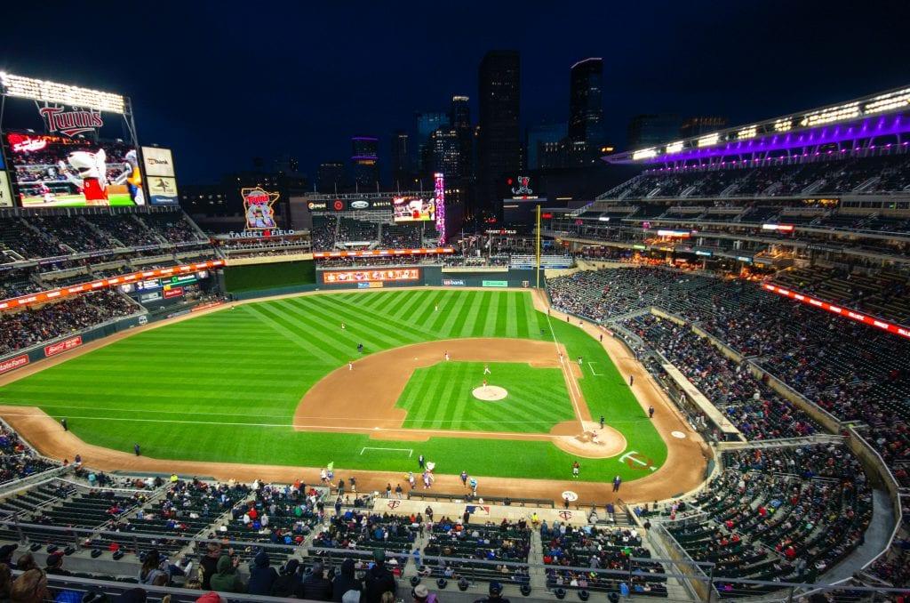 The Target Stadium, Minneapolis.