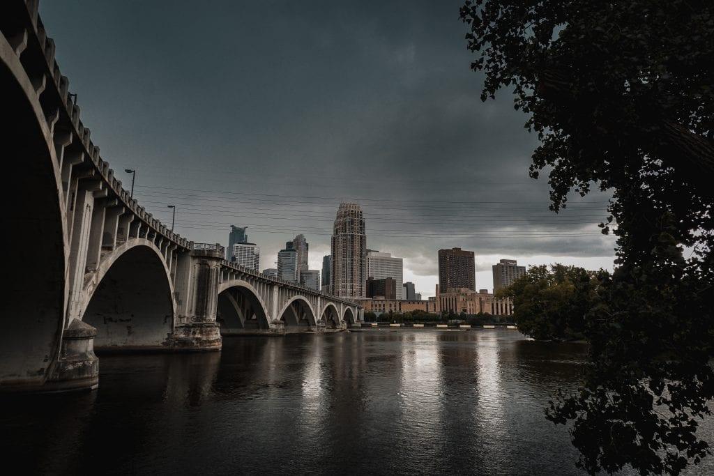 The Stone Arch Bridge, Minneapolis.