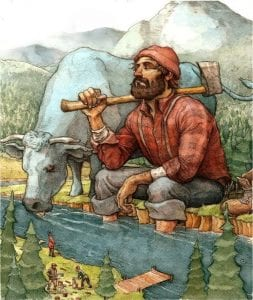 Paul Bunyan: A 19th C. Folklore Or A Real Hero? 4