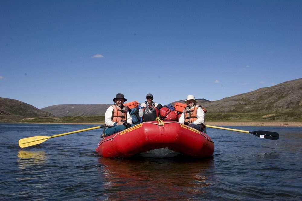 canoeing baffin island