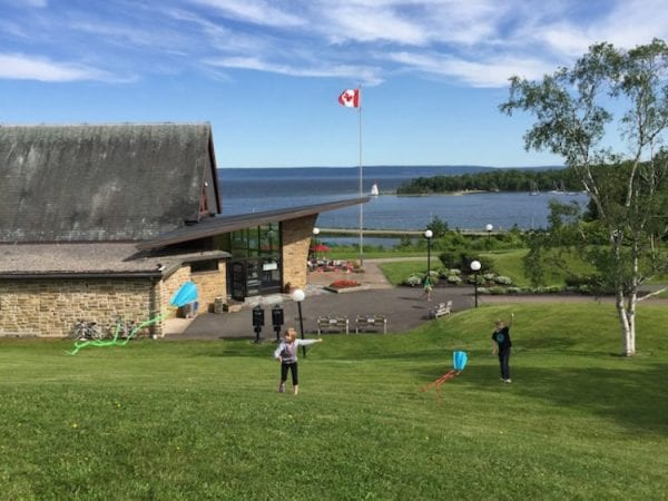 Kite flying at Bell museum