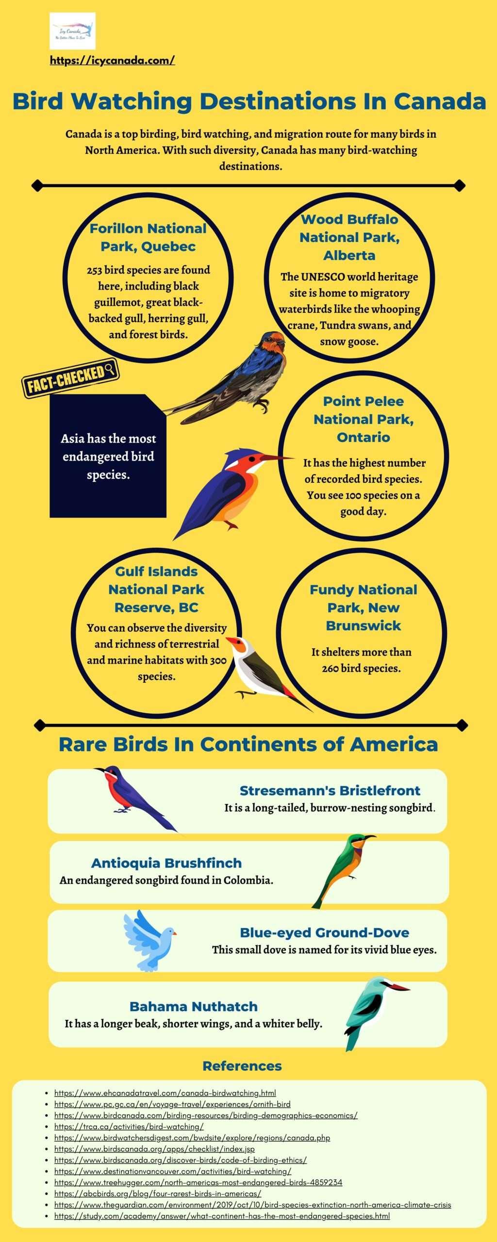 Top Bird Watching Destinations In Canada