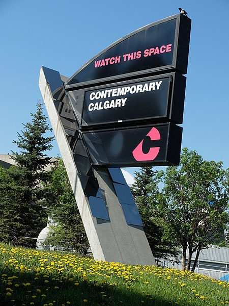 File:WATCH THIS SPACE CONTEMPORARY CALGARY sign.jpg - Wikimedia Commons