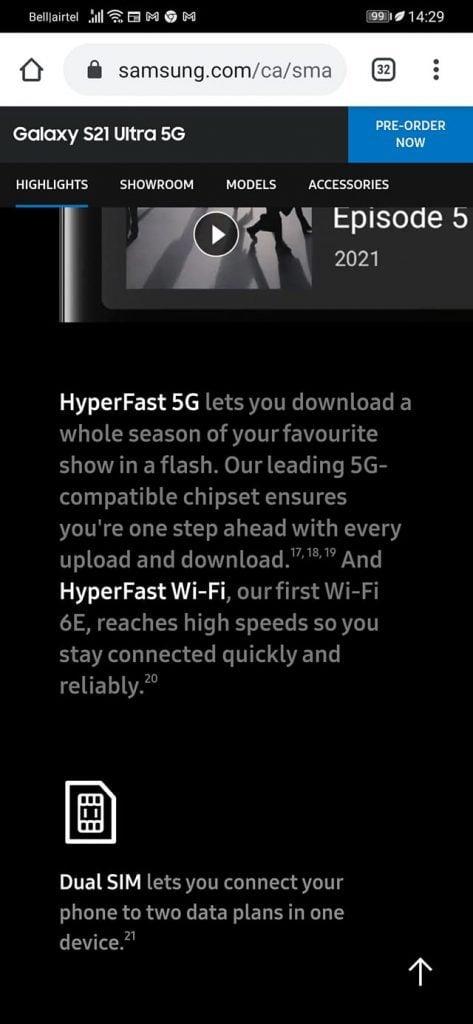Samsung Lies on Galaxy S21 Sim compatibility in US & Canada 2