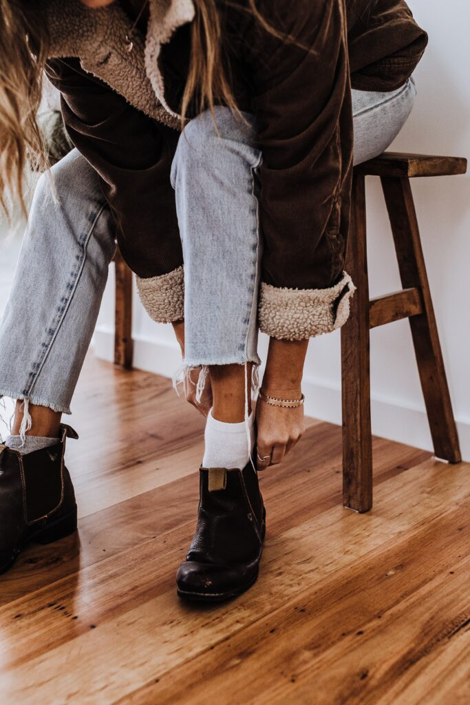 The Boots with Exposed Socks Style- Canadian fashion trends
