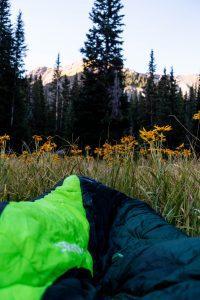 Camping In Sleeping Bag