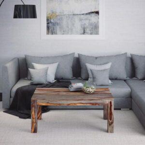 Edmonton Furniture Store | Grey Modern Rustic Solid Wood Coffee Table