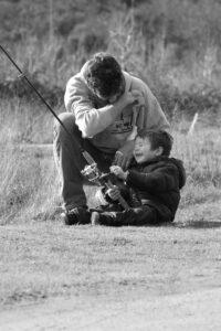 Fishing near River