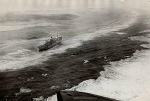 A ship coming to Sable Island