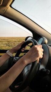 Looks like someone's enjoying driving through the beautiful roads!