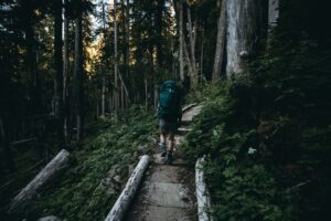 A guy hiking