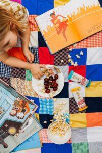 A family enjoying picnic