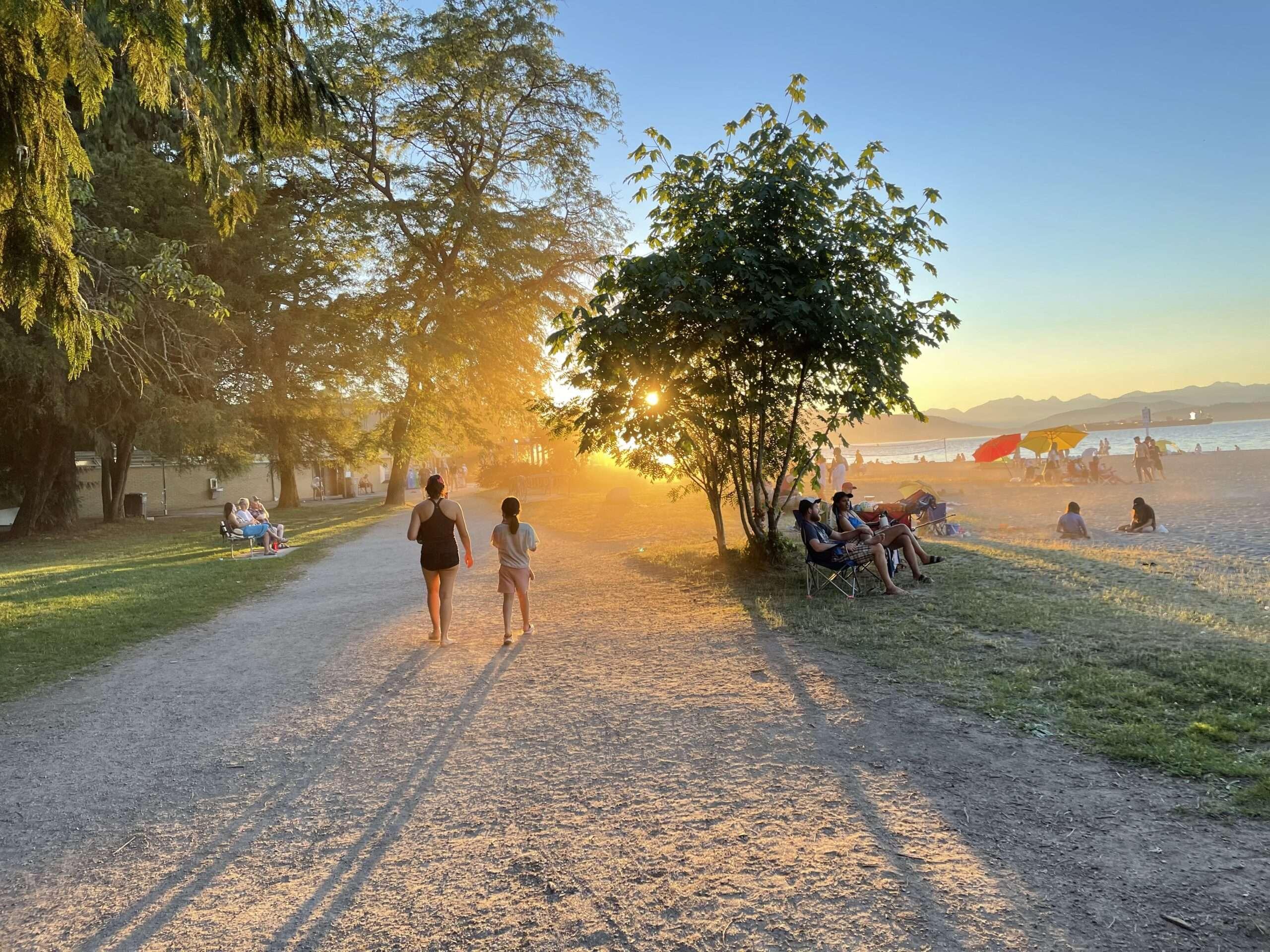 Jericho beach Sunset